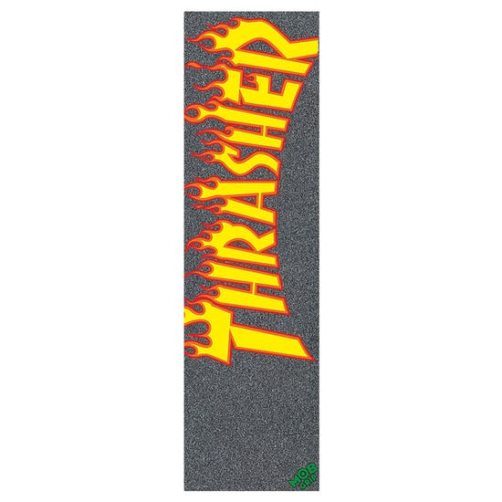 Skateboard Griptape MOB Thrasher Yellow Orange Flame 9 Inch