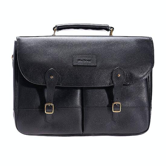 Barbour Leather Briefcase Messenger Bag