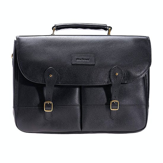Barbour Leather Briefcase Schoudertas