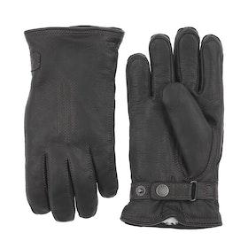 Hestra Deerskin Lambskin Gloves - Black