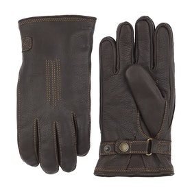 Hestra Deerskin Lambskin Gloves - Dark Brown