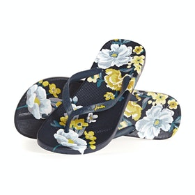 Sandali Donna Joules Flip Flops - Navy Botanical