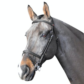 John Whitaker Ready to Ride Flash Snaffle Bridle - Black