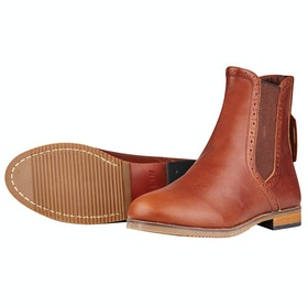 Dublin Kalmar Ladies Paddock Boots - Red Brown