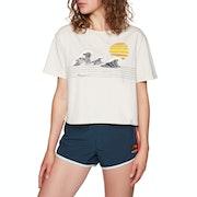 Rip Curl Wave Lines Crop Short Sleeve T-Shirt