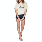 Rip Curl Wave Lines Crop Short Sleeve T-Shirt
