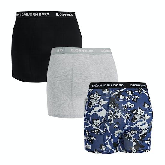 Bjorn Borg Fleurs De Jardin Sammy 3 Pack Boxer Shorts