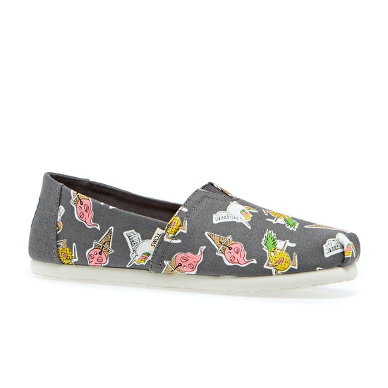 Toms Classic Printed Girls Shoes