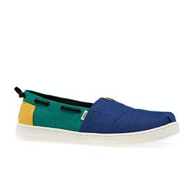 Dress Shoes Bambini Toms Bimini Nautical - Youth Indigo Blue Heritage Canvas