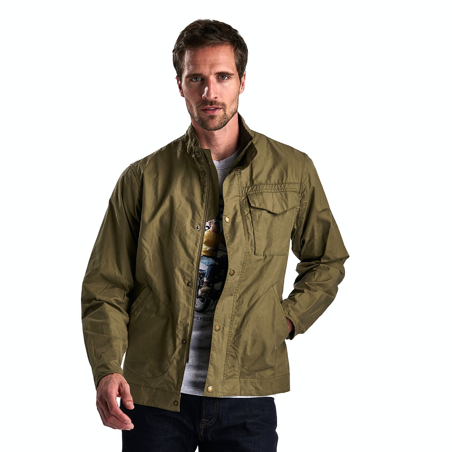 Sales promotion limited sale unequal in performance Barbour International Steve Mcqueen Major Casual Jacket - Dusky Green |  Country Attire