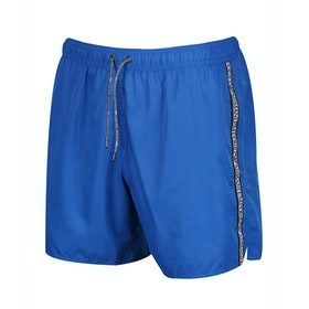 Emporio Armani Logo Tape Swim Shorts - Blu Nautical