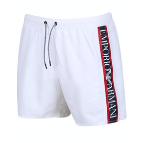Emporio Armani Woven Colour Block Swim Shorts - Bianco