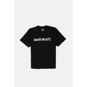 T-Shirt a Manica Corta Polar Skate Co Skatelife - Black