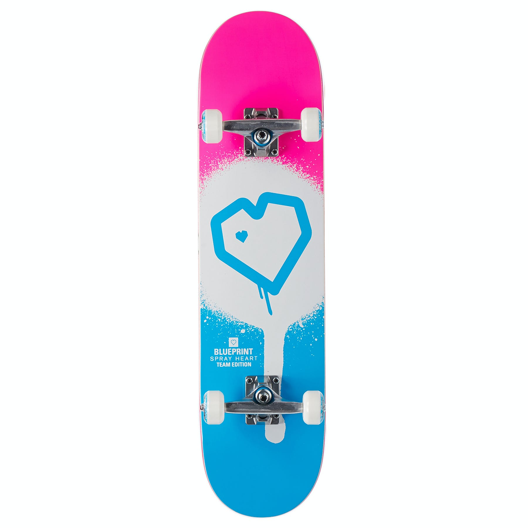 Blueprint Spray Heart Kids Skateboard - Free Delivery options on All Orders  from Surfdome UK