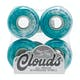 Ricta Clouds Teal Swirl 78a 54mm Skateboard Wheel