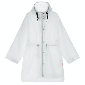 Hunter Original Vinyl Oversized Rain Ladies Jacket - White