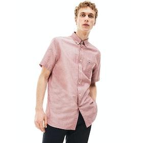 Lacoste Oxford Cotton Short Sleeve Shirt - Iberis