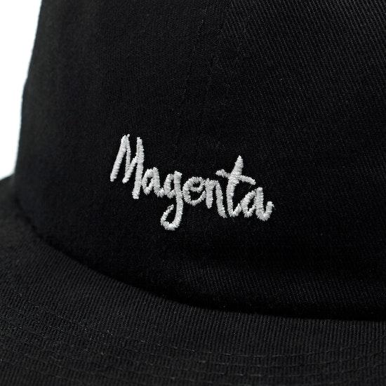 Magenta Script 6-panel Cap
