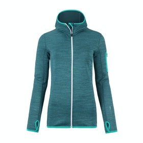 Ortovox Melange Hooded Womens Fleece - Aqua Blend