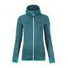 Ortovox Melange Hooded Dames Fleece - Aqua Blend