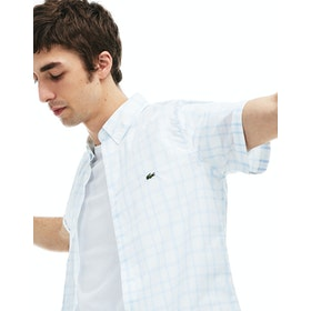 Lacoste Mini Pique Short Sleeve Shirt - Hemisphere Blue White