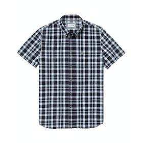 Lacoste Ch5645-00 Short Sleeve Shirt - Navy Blue White Creek