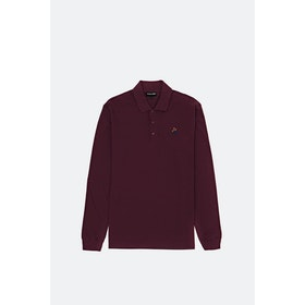 Pass-Port Full Time LS Polo - Maroon