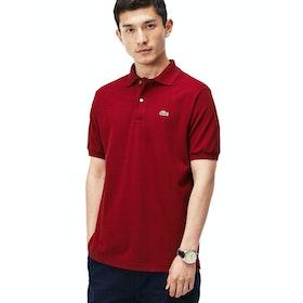 Lacoste L1212 Classic Premium Herren Polo-Shirt - Bordeaux
