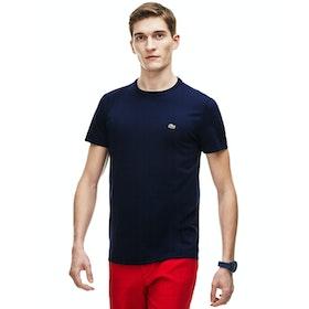 Lacoste Crew Neck Herren Kurzarm-T-Shirt - Navy