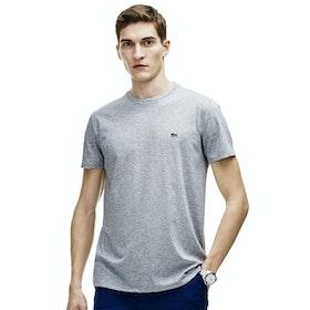 Lacoste Crew Neck Herren Kurzarm-T-Shirt - Silver Chine