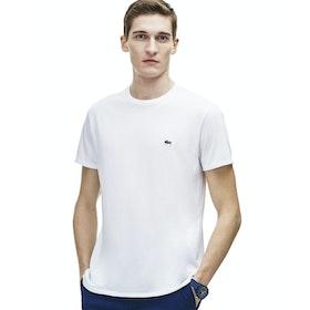 Lacoste Crew Neck Herren Kurzarm-T-Shirt - White
