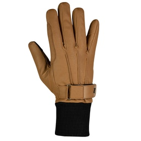 Horze PU Fleece Lined Gloves - Tobacco Brown