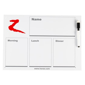 Horze Schedule White Board Dressage Test - Optical White