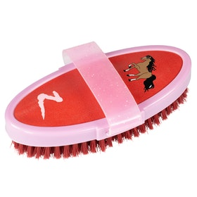 Horze Scout Body Brush - Aurora Red Lilac
