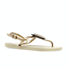 Havaianas Freedom Metal Pin Womens Sandals - Sand Grey