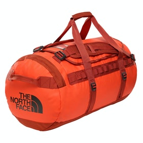 North Face Base Camp Medium ダッフルバッグ - Acrylic Orange Picante Red