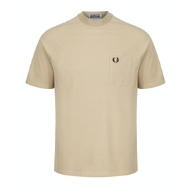 Fred Perry Re Issues Two Tone Pique Kurzarm-T-Shirt - Camel