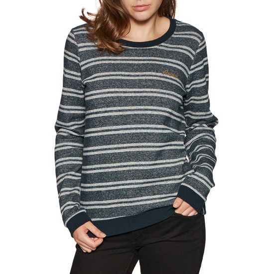 Sweater Senhora Animal Stripes Crew Neck