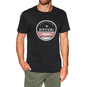 T-Shirt à Manche Courte Rip Curl Watermark - Black