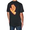 Santa Cruz Flame Hand Short Sleeve T-Shirt - Black