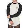 Santa Cruz Opus Dot Baseball Long Sleeve T-Shirt - Black Athletic Heather