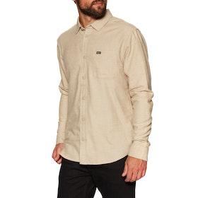 RVCA Black Sand Flannel Ls Shirt - Dust Yellow