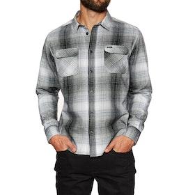 RVCA Muir Flannel Shirt - Black White