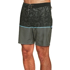 Hurley Phantom Beachside Dead Flowers 18in Boardshorts - Black