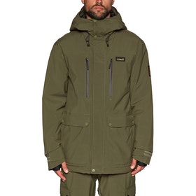 Planks Good Times Insulated Snow Jacket - Army Green