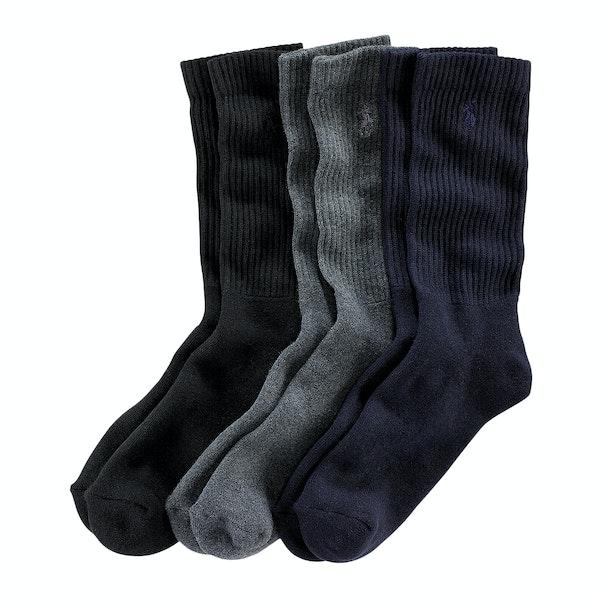 Polo Ralph Lauren 3 Pack Crew Fashion Socks
