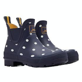 Joules Wellibob Ladies Wellington Boots - Navy Spot