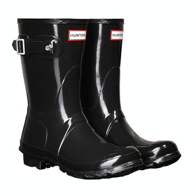 Hunter Original Short Gloss Ladies Wellies - Black