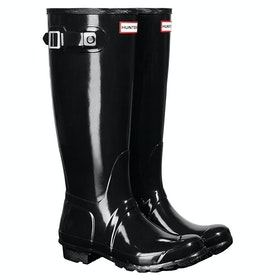 Hunter Original Tall Gloss Dame Wellies - Black
