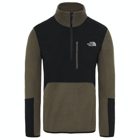 North Face Glacier Pro 1/4 Fleece - New Taupe Green Tnf Black